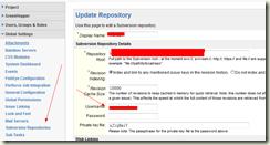 Subversion Repositories内的配置
